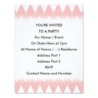 """Zigzags del rosa blanco y en colores pastel invitación 4.25"""" x 5.5"""""""