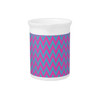 Zigzags del rosa y del trullo jarra de beber