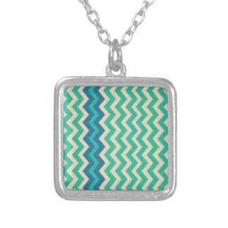 Zigzags del trullo con la frontera azul colgante cuadrado