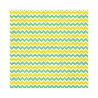 Zigzags del verde amarillo de Chevron de la fruta  Impresiones En Lona