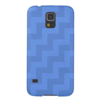 Zigzags diagonales azules del Cornflower (rayas de Carcasas De Galaxy S5