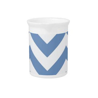 Zigzags en azul claro jarron