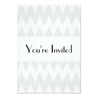 """Zigzags grises blancos y en colores pastel invitación 5"""" x 7"""""""