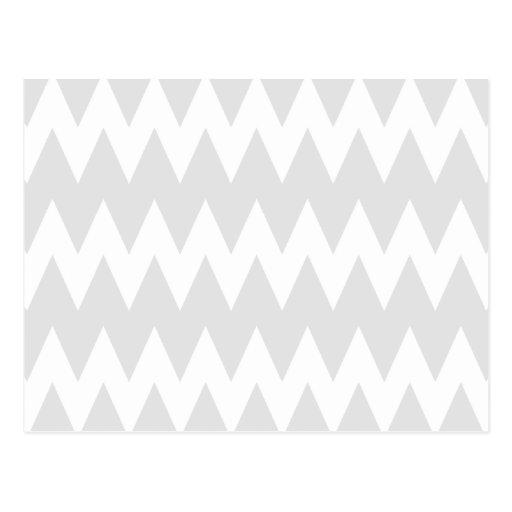 Zigzags grises blancos y en colores pastel postales