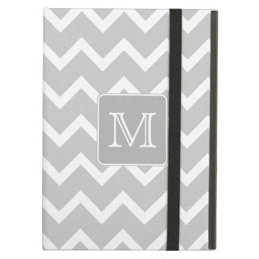 Zigzags grises y blancos con el monograma de encar