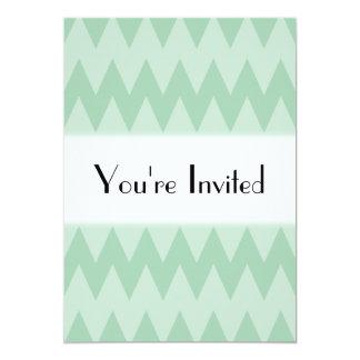 """Zigzags ligeros de la verde salvia invitación 5"""" x 7"""""""