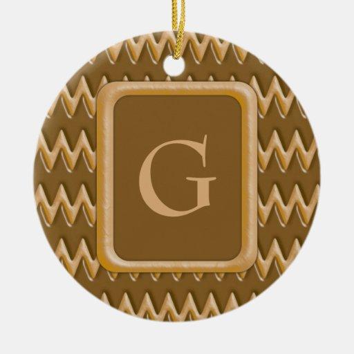 Zigzags - mantequilla de cacahuete del chocolate ornamento de navidad