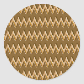 Zigzags - mantequilla de cacahuete del chocolate etiqueta redonda