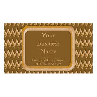 Zigzags - mantequilla de cacahuete del chocolate tarjetas de visita