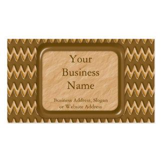 Zigzags - mantequilla de cacahuete del chocolate tarjetas de negocios