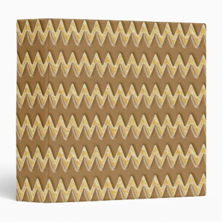"Zigzags - melcocha del chocolate carpeta 1 1/2"""