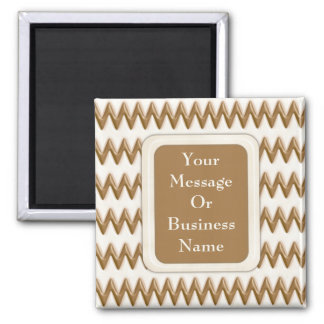Zigzags - Milk Chocolate and White Chocolate 2 Inch Square Magnet