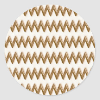 Zigzags - Milk Chocolate and White Chocolate Classic Round Sticker