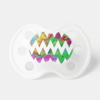 Zigzags multicolores brillantes chupetes para bebes