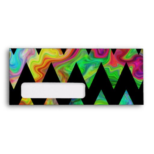 Zigzags multicolores negros y brillantes