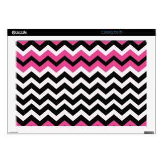 Zigzags negros y rosados del arte pop portátil 43,2cm skins