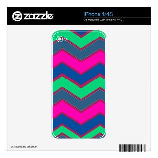 Zigzags oscuros e intrépidos calcomanía para iPhone 4S