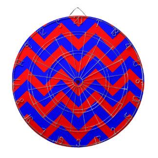 Zigzags rojos y azules tablero dardos