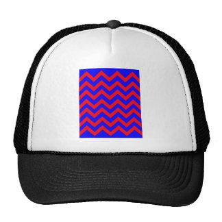 Zigzags rojos y azules gorro de camionero