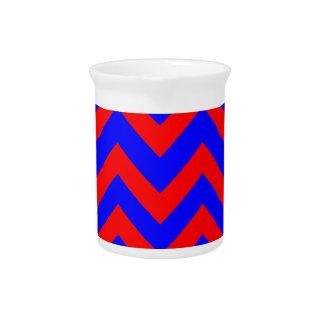Zigzags rojos y azules jarrones