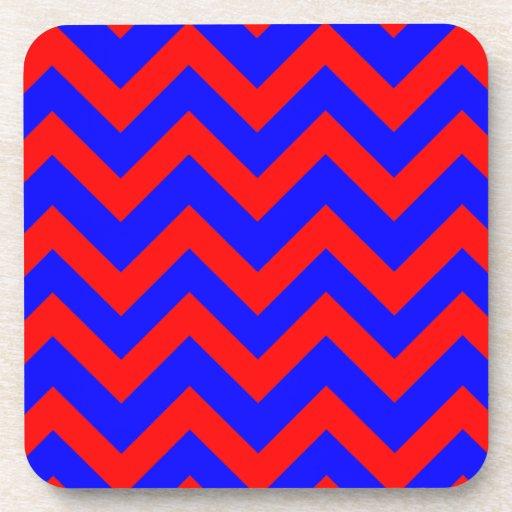 Zigzags rojos y azules posavasos