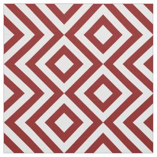 Zigzags rojos y blancos geométricos y diamantes telas