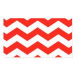 Zigzags rojos y blancos tarjeta de visita