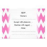 Zigzags rosados blancos y brillantes comunicados personalizados