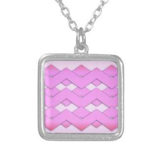 Zigzags rosados colgante cuadrado