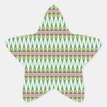 Zigzags tribales aztecas de Chevron de las Calcomanías Forma De Estrellaes