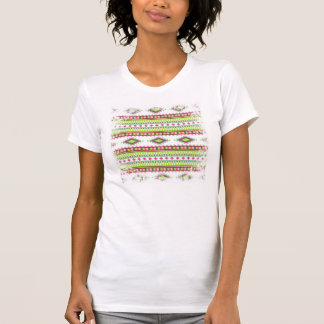 Zigzags tribales aztecas de los diamantes de las camisetas