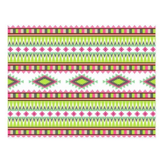 Zigzags tribales aztecas de los diamantes de las tarjeta postal