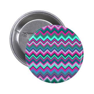 Zigzags tribales rosados azules de Chevron del tru Pin