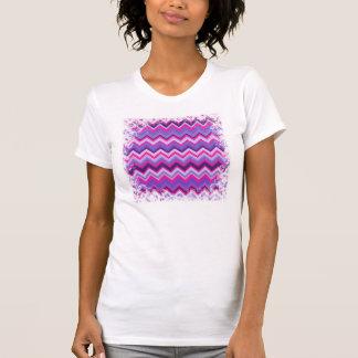 Zigzags tribales rosados púrpuras intrépidos de camisas