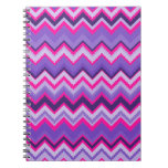 Zigzags tribales rosados púrpuras intrépidos de Ch Libreta Espiral