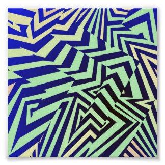 Zigzags Trippy Póster