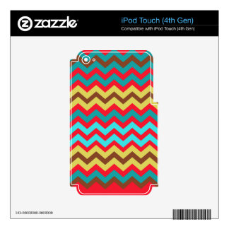 Zigzags urbanos de la pintada iPod touch 4G calcomanía