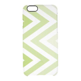 Zigzags verdes de Ombre Funda Clearly™ Deflector Para iPhone 6 De Uncommon