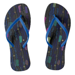 Zigzags vertical from lines an abstract texture flip flops