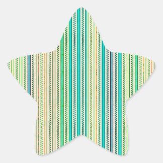 Zigzags y rayas de sombras azules y verdes