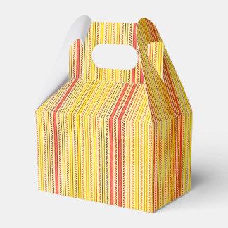 Zigzags y rayas naranja y sombras del amarillo cajas para regalos de fiestas