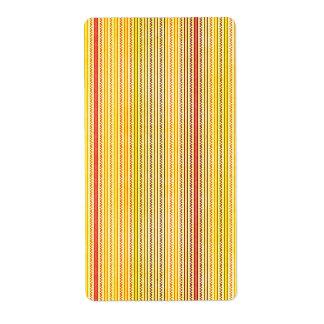 Zigzags y rayas naranja y sombras del amarillo etiquetas de envío