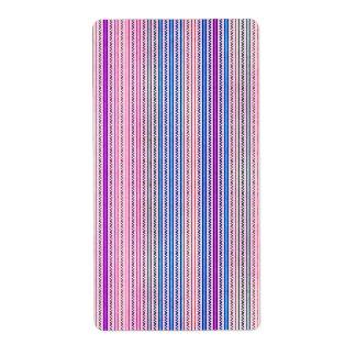 Zigzags y rayas púrpuras y sombras azules etiquetas de envío