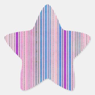 Zigzags y rayas púrpuras y sombras azules
