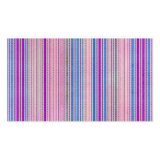 Zigzags y rayas púrpuras y sombras azules tarjetas de visita