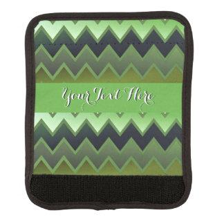 Zigzaguee simplemente verde oscuro funda para asa de maleta