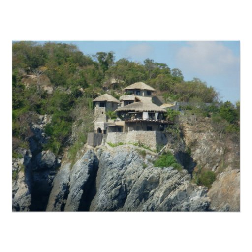 Zihuatanejo Cliffside Poster