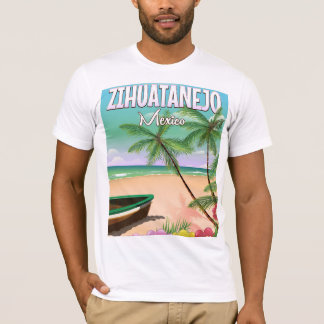 Zihuatanejo Mexican beach vacation poster T-Shirt