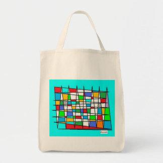 zik zak de colores bolsa tela para la compra