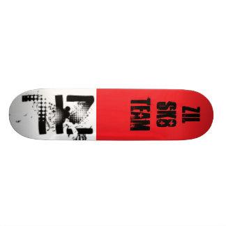 zil, rojo, equipo de Zil sk8 Monopatines Personalizados